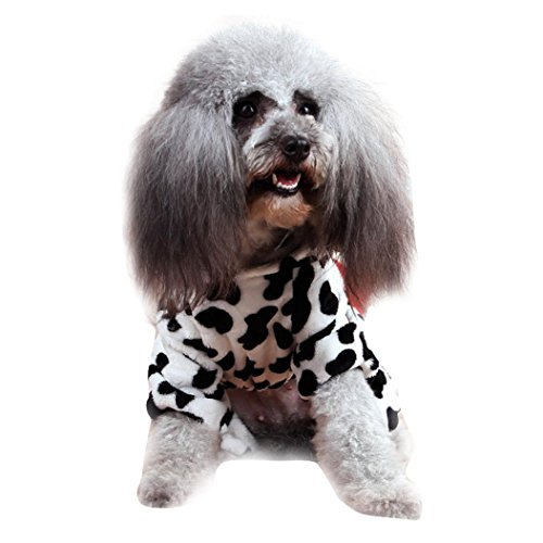 Xxl Dog Costume Cow (AutumnFall Cute Pet Dog Cat Clothes Funny Puppy Dairy Cow Costume Hoodie (XXL,)