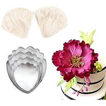 Amazon Com 4pcs Gumpaste Flower Cutter Set And 2pcs