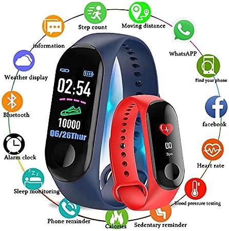 WANGLAI 1 Pc Tracker di Fitness Tracker di attivit/à con Monitor della Pressione arteriosa della frequenza cardiaca Black Bracciale Intelligente con Conta Calorie