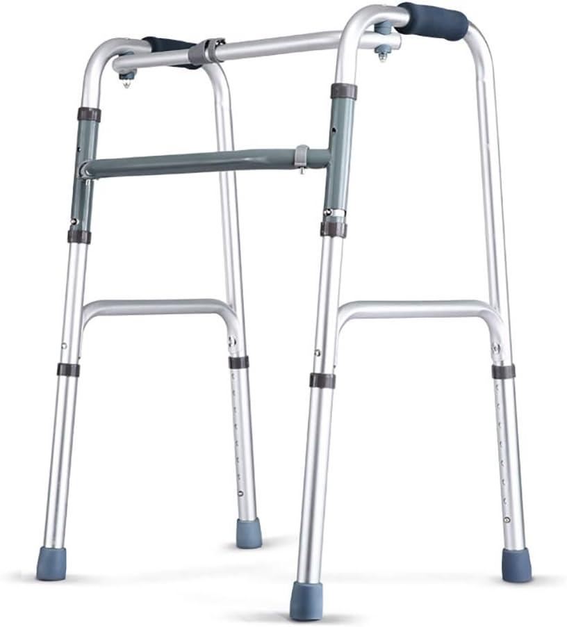 YSNUK Andador para Ancianos Muletas con Ruedas for Discapacitados Ancianos De Cuatro Patas Andadores De Brazos for Caminantes De Edad Avanzada Bastón Antideslizante con Hospital