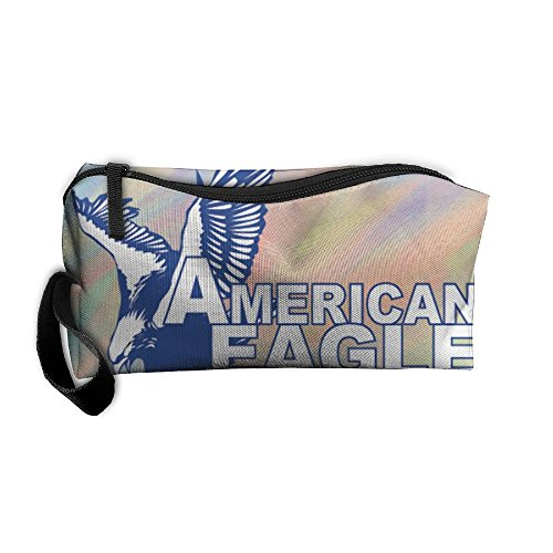 CHI-M American EAGLE Cosmetic Bag Zipper Portable Hangbag (Hoody Country)