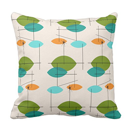 Emvency Throw Pillow Cover Retro Atomic Mobile Pattern Decorative Pillow Case Geometric Home Decor Square Cushion Pillowcase 51mpldGomlL
