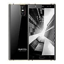 Oukitel K3 Smartphone 5,5 Pollici FHD Schermo Telefoni Android 7,0, 16,0MP+2,0MP Fotocamera 6000mAh Cellulari, Processore Octa Core da 1,5GHz Telefonia Mobile con 4GB RAM + 64GB ROM - Nero