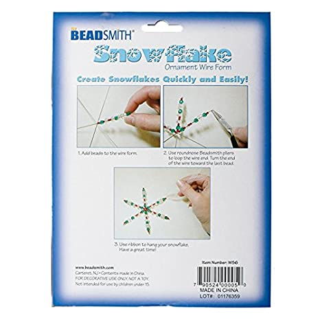 BeadSmith 15,2 cm Schneeflocke Draht Formen für Ornaments 6 Stück ...