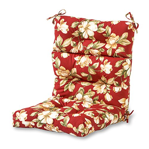 (Greendale Home Fashions Indoor/Outdoor High Back Chair Cushion, Roma Floral)