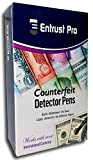 Entrust Pro Counterfeit Pens -- Marker Detects Fake Counterfeit Money with Professional Round Tips, Universal Currency Detector (12 Pack)