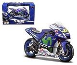 MAISTO MOTORCYCLES 1:18 DISPLAY - YAMAHA FACTORY RACING #46 VALENTINO ROSSI - 2016 MOTO GP BLUE 34590VR