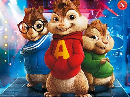 Cartoon Photography Backdrop 7x5 Alvin and The Chipmunks Themed Photo Background Music Bar Backdrops for Birthday -