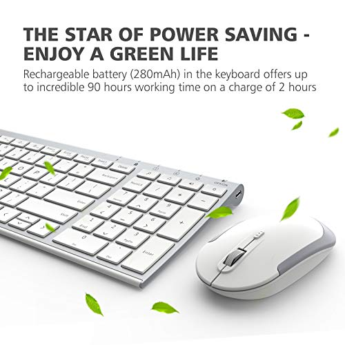 iClever GK03 Wireless Keyboard and Mouse Combo