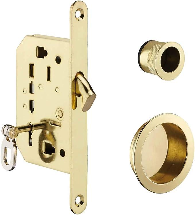 Thirard - BLOQUEO DE GANCHO con llave para puerta corredera, latón: Amazon.es: Bricolaje y herramientas