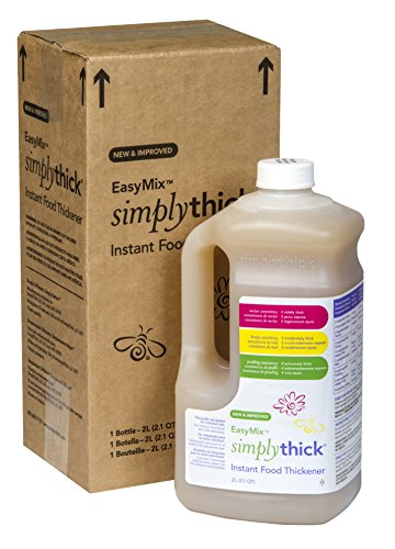 SimplyThick Easy Mix Gel Thickener- 2 Liter Bottle with - Thickener Nectar