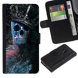 NEECELL GIFT forCITY // Billetera de cuero Caso Cubierta de protección Carcasa / Leather Wallet Case for Samsung Galaxy S3 MINI 8190 // Rey Esqueleto