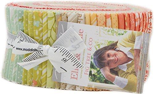 & Ollie Jelly Roll 40 2.5-inch Strips Moda Fabrics 20300JR (Vintage Market Alphabet)