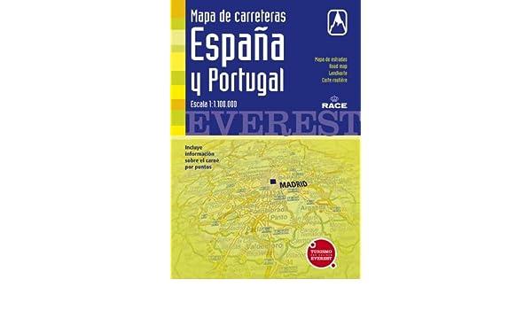 Mapa de carreteras de España y Portugal. 1:1.100.000: Cartografía digital georreferenciada. Mapas de carreteras: Amazon.es: Cartografía Everest: Libros