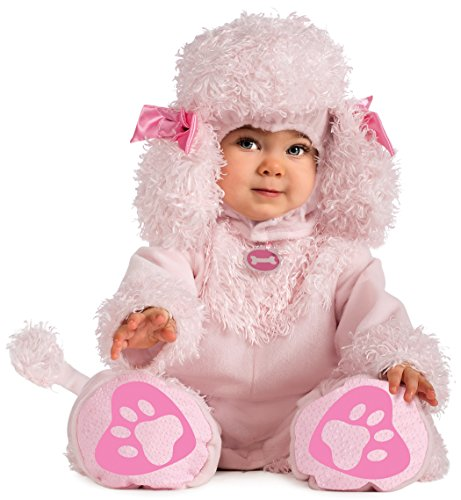 Rubie's Costume Cuddly Jungle Pink Poodles Of Fun Romper Costume, Pink, 6-12 Months (Baby Poodle)