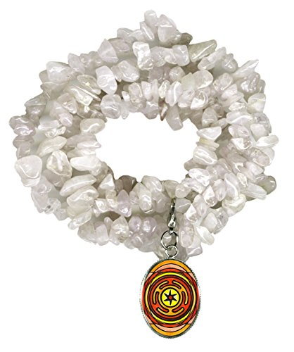 Goddess Hecates Magic Wheel Charm Clip Clear Quartz Gem Wrap Bracelet or (Hecate Costume)