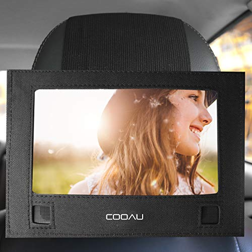 COOAU Car DVD Player Headrest Mount Holder Durable Car Back Seat DVD Strap Case for 10-10.5 inch Swivel & Flip Portable DVD Players