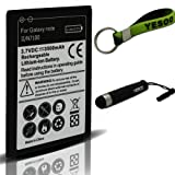 Yesoo Samsung Galaxy Note 2 II N7100 3500mAh Replacement Battery, Exclusive Aluminum Touch Pen, Black And Green Key Chain Kit