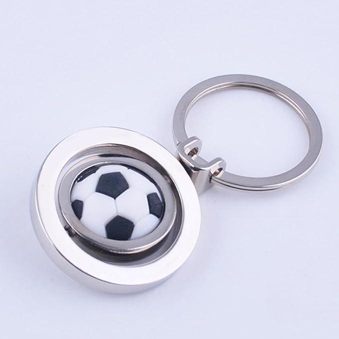 ZPL Fútbol balón fútbol Spinning llavero llavero de Metal redondo ...