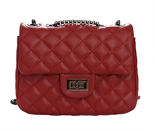 Bag Salon-UK - Cartera de mano con asa para mujer, color Sapphire(0088), tamaño talla única Red(0088)