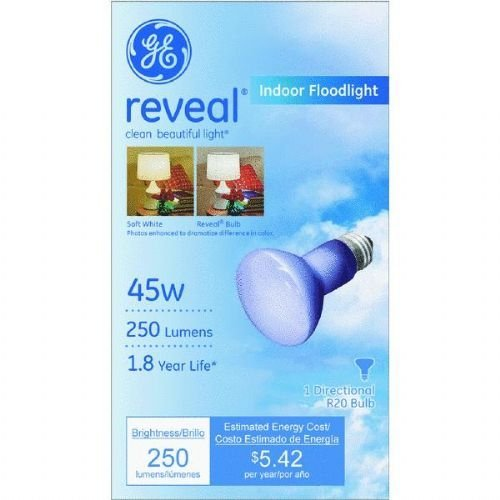 Ge Reveal Floodlight 45 W 250 Lumens R20 Med Base Can