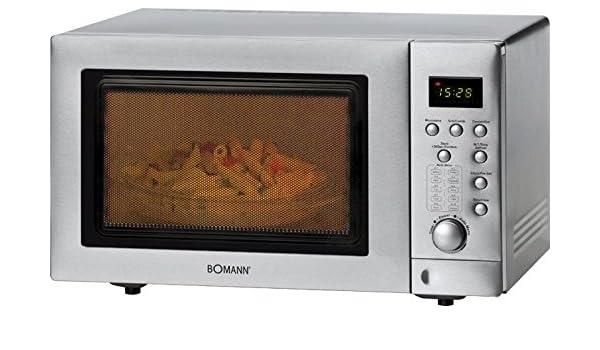 Acero inoxidable Microondas con grill + aire caliente ...