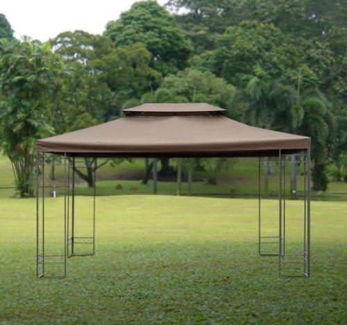 Gazebo Tienda de campaña funda de recambio para parte superior techo 2 niveles, tamaño (3 m x