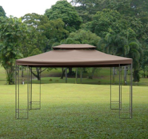 Gazebo Replacement Top Cover Tent Roof 2 Tier Size 3m X 4m