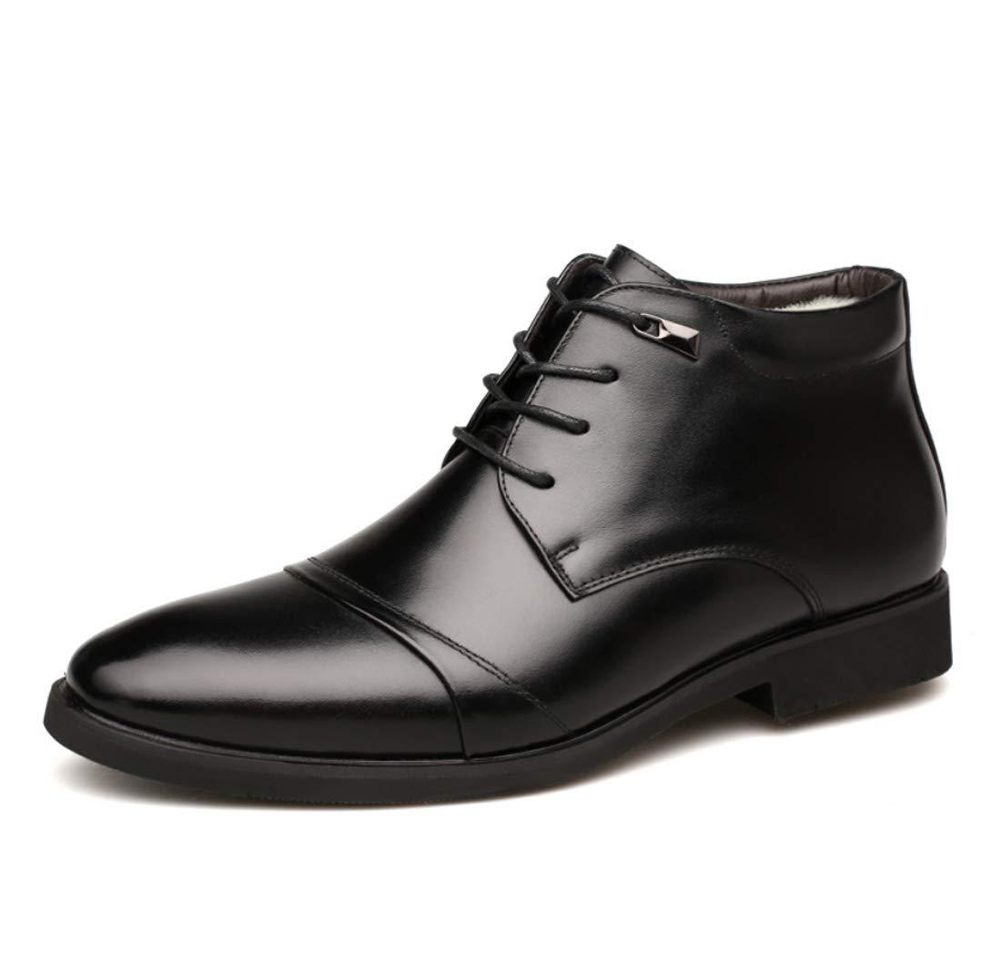 DANDANJIE Herren Reitstiefel Warm Winter Classic Vintage Oxford Stiefel Rutschfeste Stiefelies Ankle Stiefel