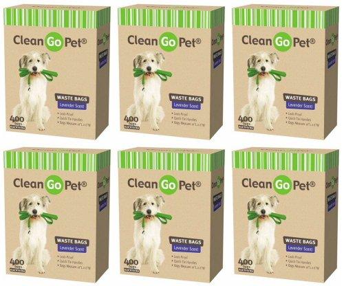 CleanGo Pet Waste Bags Lavender Scent 2400ct (6 x 400ct)