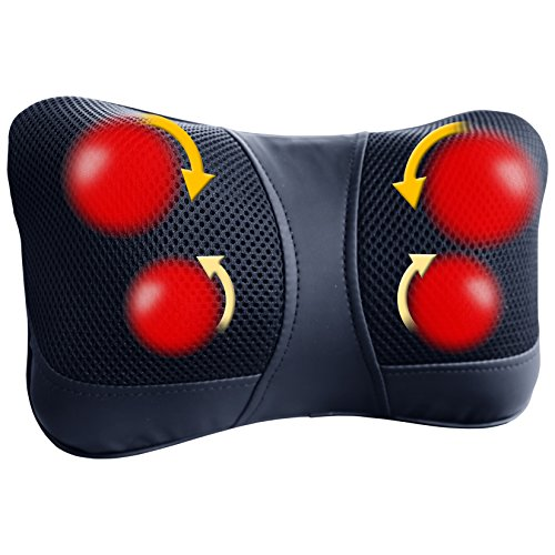 Back Shiatsu Massager Pillow With Heat To Relieve Shoulder Neck & Foot Pain And To Relax Your Body | AC And Car - Massager Body Heat