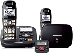 Panasonic KX-TG6592T DECT 6.0 Plus Amplified Handset Volume Talking Caller ID Eco Mode 2 Handsets Cordless Phone with Range Extender and Call Blocker