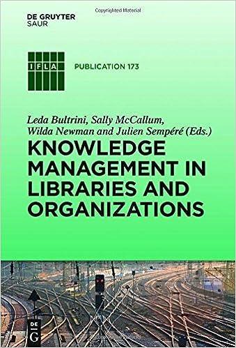 Téléchargement gratuit de podcasts de livres Knowledge Management in Libraries and Organizations (IFLA Publications) by Leda Bultrini (2015-12-18) PDF