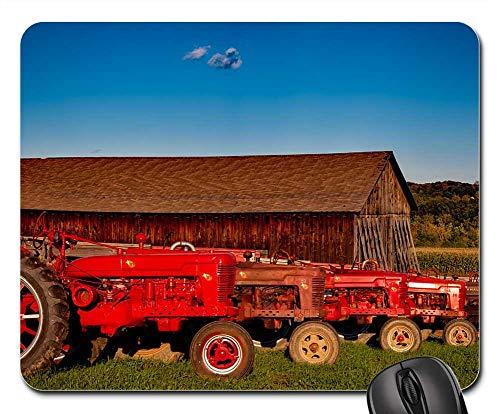 (Mouse Pad - Farmall Tractors Vintage Antique Equipment Rural 1)