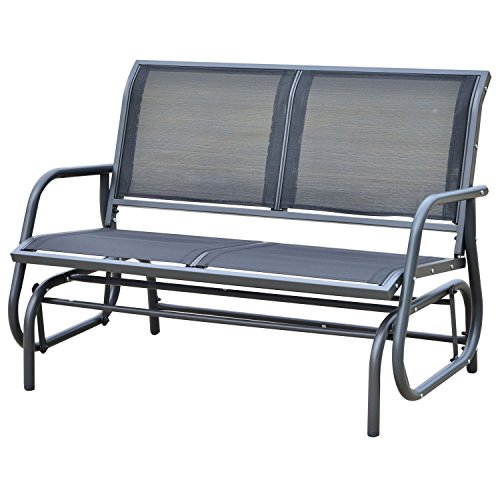 New Outsunny Patio Double 2 Person Glider Bench Rocker Porch Love Seat Swing Chair (Double Rocker Indoor Glider)