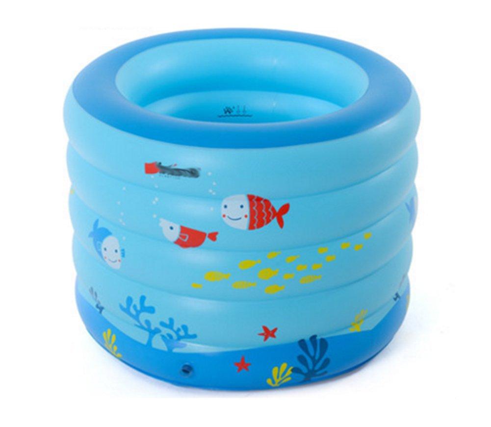 Inflatable Bathtub Plastic Insulation Thickened Folding Portable Bath Tub Adult Bathtub Outdoor Swimming Pool/Blue