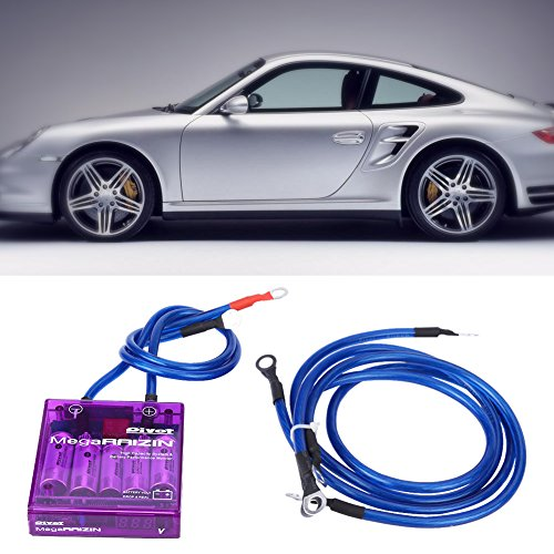 Qiilu Universal Fuel Saver Voltage Stabilizer Regulator Kit W/ 3 Earth Ground Cables for Car Truck(Purple) by Qiilu (Image #5)
