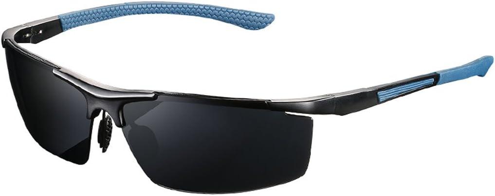 GAOYANG Aleaciones De Aluminio Y Magnesio Gafas De Sol Hombre Microscopio Polarizador Espejo De Pesca Gafas Especiales HD Gafas De Sol Al Aire Libre Fat Face (Color : E)