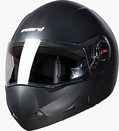 8f34d3a0 Steelbird Flip Up Full Face Unisex Helmet (Mat Volcanic Black, Large  600Mm): Amazon.in: Car & Motorbike