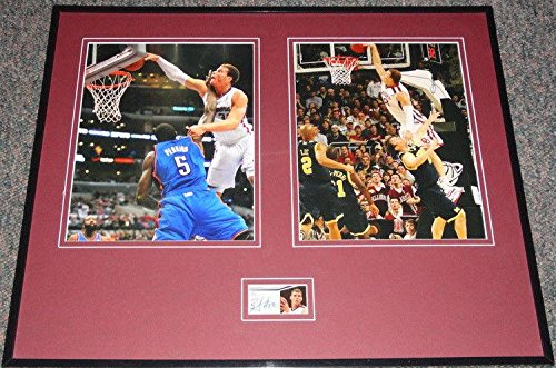 Blake Griffin Autographed Photograph - Framed 16x20 Set PANINI Oklahoma - Panini Certified - Autographed NBA Photos - Nba Coin Set