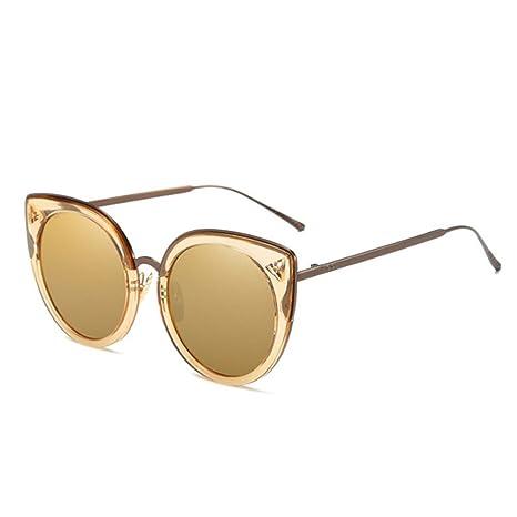 RLJJSH Gafas de Sol adornadas Vintage Redondas Gafas de Sol ...