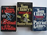 set of 3 volumes by Tom Clancy: Power Plays, Patriot Games and The Cardinal of the Kremlin