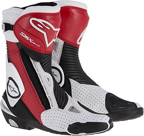 Alpinestars Mens SMX Plus Vented Boot (Black/Red/White, EU 48)