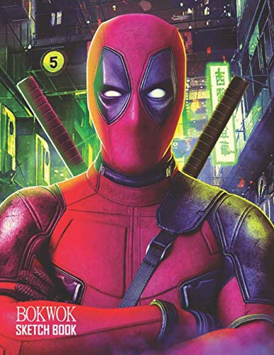 Sketch Book: Deadpool Sketchbook 129 pages, Sketching, Drawing and Creative Doodling Notebook to Draw and Journal 8.5 x 11 in large (21.59 x 27.94 cm)