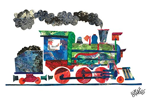 Marmont Hill Eric Carle's 1, 2, 3 to The Zoo Train Canvas Wall Art, 36 by 24-Inch