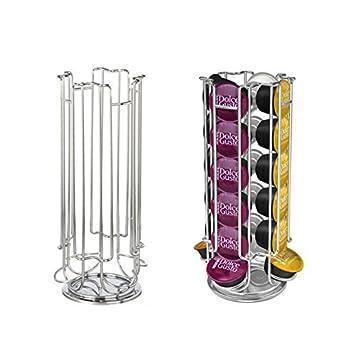 Puerta cápsula Comptatible Dolce Gusto – Almacenamiento de 24 Cápsulas/estructura sólido en acero inoxidable