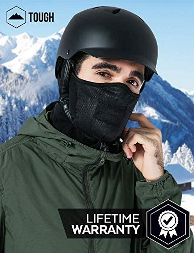 Winter Face Mask & Neck Gaiter - Cold Weather Half Balaclava - Tactical Neck Warmer for Men & Women - Face Cover / Shield for Running, Skiing, Snowboarding, Motorcycle Riding & Other Sports