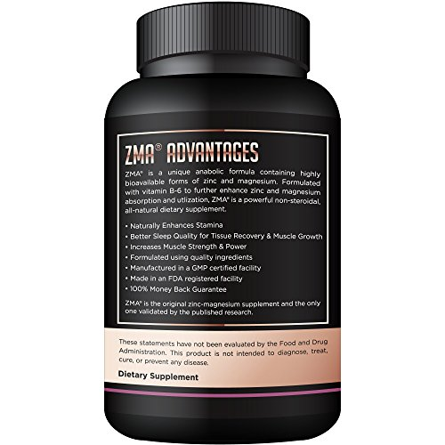 NUTRAFX ZMA 90 Capsules Post Workout Supplement Benefits Muscle Growth, Strength, and Sleep