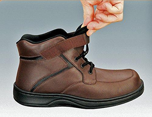 Ortofetto Montare Mitchell Comfort Artrite Ortopedica Stivali Da Uomo Diabetici Velcro
