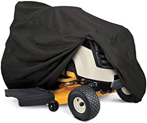Nomiou Outdoor Tractor Lawn Mower Cover Heavy Duty, Universal Fit with Drawstring,72X 46 x54inch